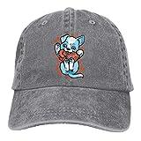 Nifdhkw Los Perros muerden el corazón Unisex Lavado Ajustable Moda Vaquero Sombrero Denim Gorras de béisbol Multicolor93