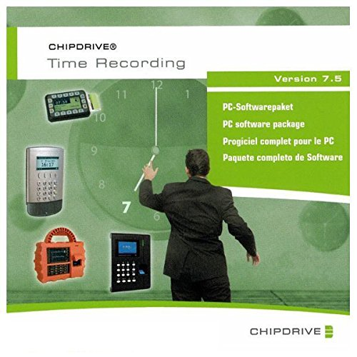 SCM Microsystems CHIPDRIVE Time Recording 7.5 (Software Produkt Keycard/Lizenz) Plus 1 Stunde Support/Zeiterfassung Mitarbeiter, Personal