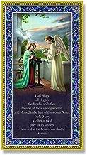 (3 6/18) The Hail Mary Plaque Fine Art Italian Plaque With Prayer 5