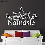 zqyjhkou Wandtattoo Vinyl Aufkleber Lotus Muster Blume Yoga Mandala Wohnkultur Für Wohnzimmer...