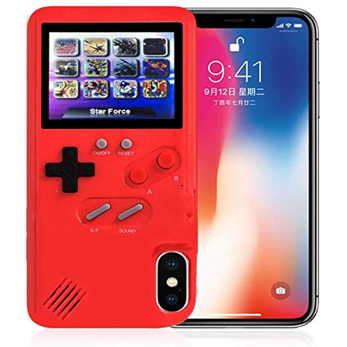 Maizad Gameboy Case for iPhone, 3D Handheld Retro Game Console Phone Protective Case with 36 Small Game, Shockproof Video Game Case for iPhone X/Max/XS, iPhone8/8 Plus, iPhone 7/7 Plus, iPhone 6/6Plus