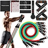 Resistance Bands Set for Women and Men - Exercise Bands with Handles, Door Anchor Attachment, Elastic Bands for Exercise, Stretch Bands for physical therapy, Home Workout