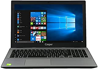 Casper Nirvana F850.8250-8150P-S-F 15.6 inç Dizüstü Bilgisayar Intel Core i5 8 GB 1000 GB NVIDIA GeForce Windows 10, Gri