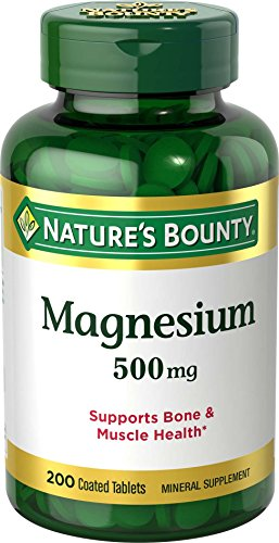 Nature's Bounty Magnesium 500 mg, 200 Tablets
