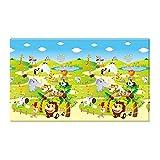 Dwinguler doppelseitige Spiel- & Lernmatte'Farbenfroh' 190x130cm im Zoo