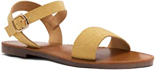 Herstyle Women's Keetton Open Toes One Band Ankle Strap Flat Sandals