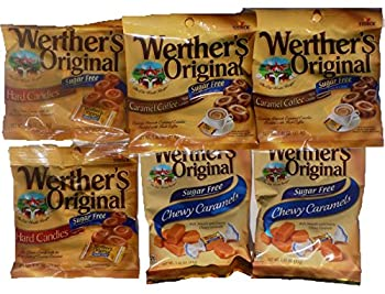Bundle  6 Items  Werther s Original Sugar Free Variety Pack  Original/Caramel Coffee/Chewy Caramels