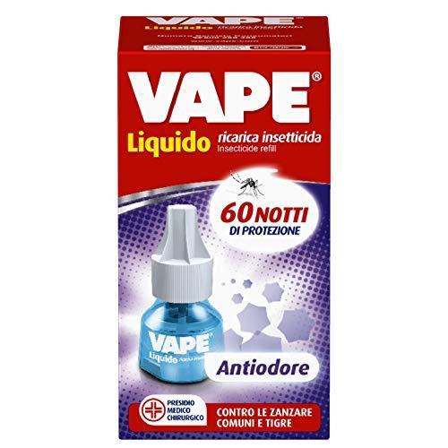 Vape Ricarica Liquida Antiodore per emanatore antizanzare, protegge da mosche e zanzare comuni e tigre, 60 Notti