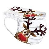 Lulupi 10 Stück Kinder Weihnachten Mundschutz Multifunktionstuch Lustig Einweg Weihnachtsmaske Atmungsaktiv Weihnachtsmotiv Mund-Nasenschutz Christmas Motiv Maske Tücher Halstuch Jungen Mädchen