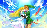 1000 piezas jigsaw piezas adultos rompecabezas Accesorios de tablero de ajedrez Mural de salón The Legend of Zelda Buttons and the Princess Love * adultos juego de decoración rompecabezas educativos