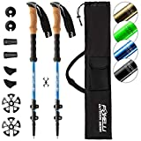 Foxelli Aluminum Trekking Poles – Collapsible, Lightweight, Aluminum 7075 Hiking Poles, Walking & Running...
