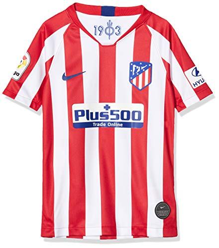 NIKE ATM Y Nk BRT Stad JSY SS Hm Camiseta Fútbol, Unisex niños, Sport Red/White/(Deep Royal Blue) (Full Sponsor), 147-158