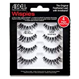 Ardell Demi Wispies False Eyelashes Black, Eye Make-Up Enhancement, Full Volume Strip Lashes - 4 pairs in 1 pack