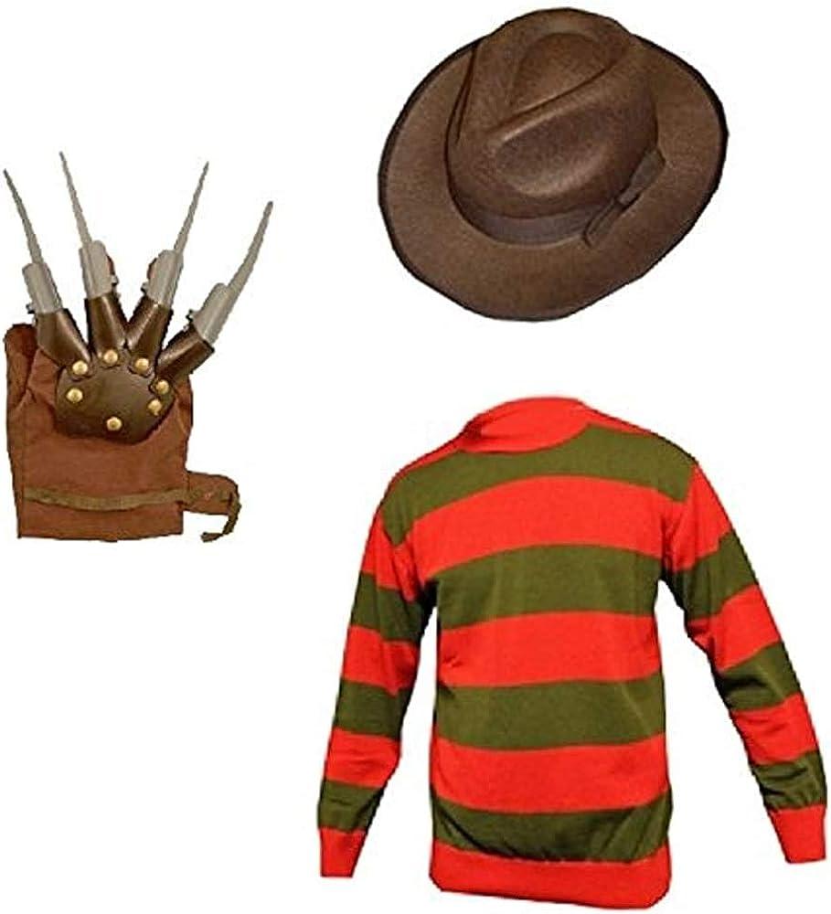 GirlzWalk Unisex Kids Boys Freddy Halloween Fancy Dress Hat Jumper...