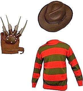 Unisex Kids Boys Freddy Halloween Fancy Dress Hat Jumper...