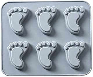 panzisun Footprint-Shape Silicone Candy Mold Trays for Chocolate Cupcake Toppers Gummies Ice Soap Butter Molds Small Brownies Party Novelty Gift (C)