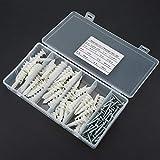 LANTRO JS - Kit di bulloni per viti da parete per tubi di ancoraggio autofilettanti da 100 pezzi