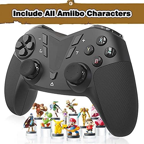AmiiPad Wireless Pro Controller for Nintendo Switch/Lite - HD Rumble with Linear Actuator - Amiibo Emulator