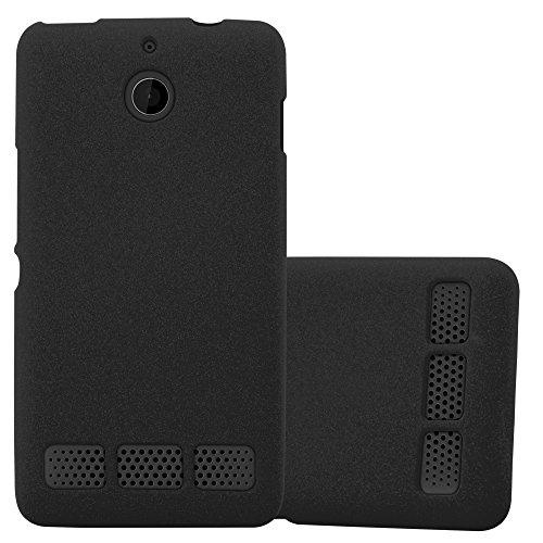 Cadorabo Hülle für Sony Xperia E1 - Hülle in Frost SCHWARZ – Handyhülle aus TPU Silikon im matten Frosted Design - Silikonhülle Schutzhülle Ultra Slim Soft Back Cover Case Bumper