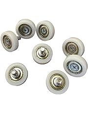 8x M6 kogellager wielen - 26 mm wiel diameter - industriële kwaliteit - voor bijvoorbeeld schuifdeuren, voertuigen - buitendraad M6