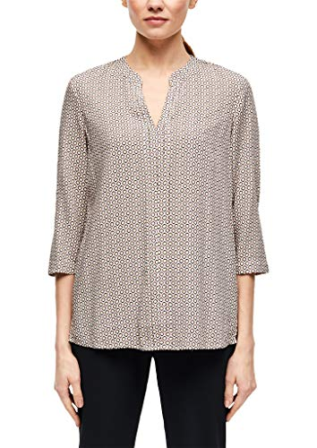 s.Oliver BLACK LABEL Damen 150.10.002.10.100.2036578 Tunika-Shirt, Cream AOP, 46