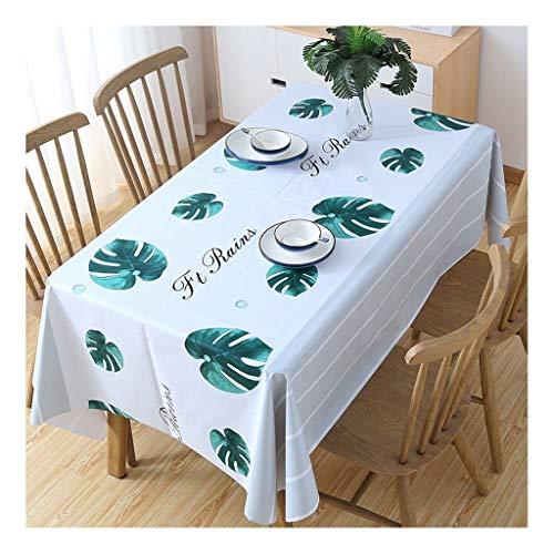 Qiao jin tafelkleed tafelkleed waterdicht tafelkleed tafelkleed rechthoekig bescherming tegen verbranding oliën PVC tafel kunststof tapijt thuis Nordic 137 x 180 cm