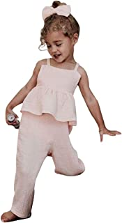 Toddler Kids Baby Girl Sleeveless Ruffle Romper Jumpsuit Backless Playsuit Outfit Overalls