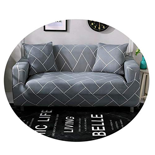 Modern Stripe Decorative Sofa Cover for Living Room 1/2/3/4 Seat Elastic Couch Slipcover Furniture Protector Model 11 4 Seat (235-300cm)