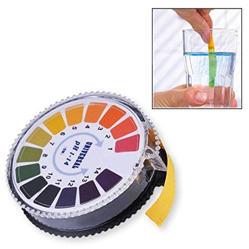 Xrten PH Indikator Lackmus Test Papier Streifen Roll,Reichweite 1–14 für Wasser Urin und Speichel
