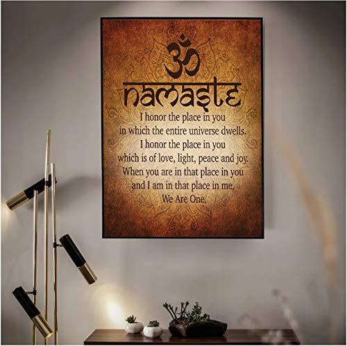 yitiantulong Namaste Budista Inspirador Motivacional Espiritual Yoga Cita Impresión...