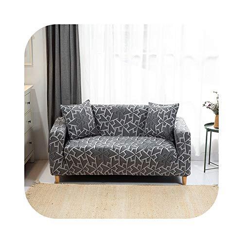 Sofa Covers - Funda de sofá de 1/2/3/4 plaza, elástica, geométrica, para sala de estar universal, incluye manta de color 3-1-Seat90-140 cm