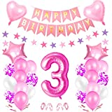 3er Cumpleaños Globos, Cumpleaños 3 Año Bebe Niñas,...