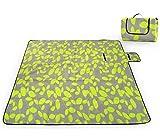 SKYSPER Picknickdecke isoliert Picknickmatte Stranddecke Wasserdicht Campingdecke Picnic Blanket Fleece Faltbare Waschbare PicknickMatte 200 x 200cm Mit Tragegriff
