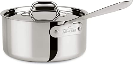 All-Clad 8701004398 Stainless Steel Tri-Ply Bonded Dishwasher Safe Sauce Pan with Lid/Cookware, 3-Quart, Silver