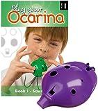 Englische Okarina, LILA, und das erste Buch: Play your Ocarina Book 1, als Set
