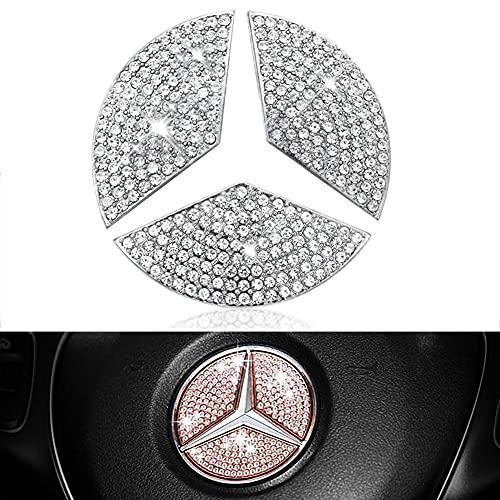 Emblema de Purpurina para Volante de Mercedes Benz, BKJJ Pegatinas Decorativas para...