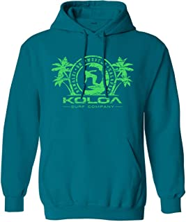 Koloa Surf Mens Surfer Girl Logo Pullover Hooded Sweatshirt Sizes S-4XL