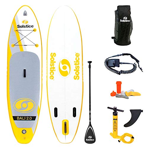 Solstice Watersports Bali 2.0 Inflatable Stand-Up Paddle Board Kit (10'6 x 32'' x 5''), Bali 2.0 kit (Yellow)
