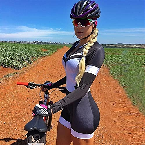 トライアスロン女性のサイクリングジャージー長袖スポーツウェアサイクリングウェアスーツサイクリングウェアプロフェッショナルチームマウンテンバイクウェイジャンプスーツ (Color : 10, Size : L)