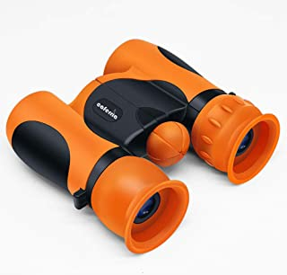 Caferria Binoculars for Kids Best Gift Toy 8x21 High Resolution Real Optics Compact Kids Binoculars Shockproof Mini Telesc...