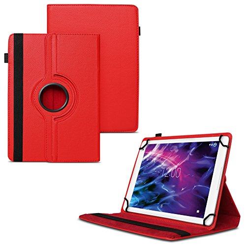UC-Express Schutzhülle kompatibel für Medion Lifetab P9702 X10302 P10400 P10506 Tablet Tasche Hülle Cover, Farben:Rot