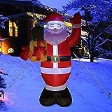 Santa Claus - Lámpara LED hinchable de Navidad de 5 pies, diseño navideño con texto en inglés 'Blow Up, Santa Claus'
