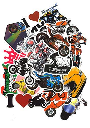 Top Stickers ! Set von 50 Motorrad Aufkleber - Bikers, Moto, Motorräder - Premium Qualität - Nicht Vulgär - Anpassung Laptop, Gepäck, Scrapbooking