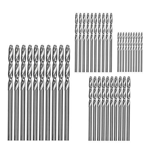 Fan-Ling40Pcs Spiral Drills,High Speed Steel Straight Shank Twist Drill Bits,1/1.5/2/2.5/3mm Drill Bit Set, Cobalt Drill Bit Steel Straight Shank,Multiple size options