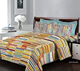 Bombay Dyeing Breeze - Cotton 120 TC - Double Bedsheet with 2 Pillow Covers - Yellow