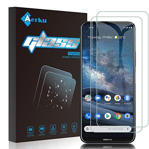 Aerku für Nokia 8.3 5G Panzerglas,9H Festigkeit HD Schutzfolie Anti-Kratzer Ultra Glatte Film Bildschirmschutzfolie Blasenfreie Panzerglasfolie für Nokia 8.3 5G [2Stück]-Transparent