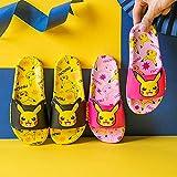 zapatillas de estar por casa mujer invierno,PIKACHU Zapatillas para niños, Niños de verano y niñas Casa para bebé Casa interior Baño Suave Inferior Non-Slip Playa Sandalias deportivas-43 (26.5cm / 10