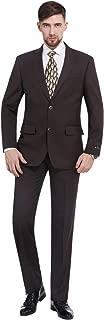 Men's 2-Piece Classic Fit 2 Button Office Dress Suit Jacket Blazer & Pleated Pants Set