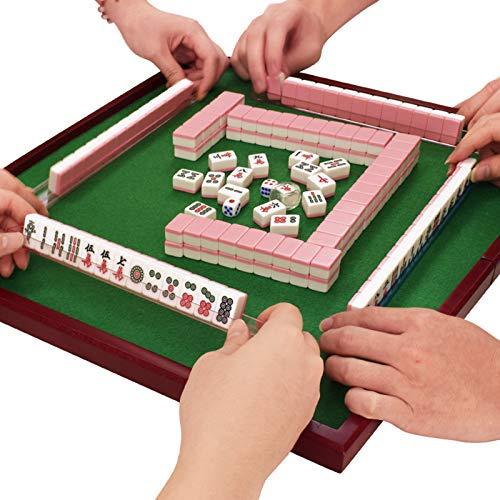 sZeao 144 Pcs Mini Mahjong Set con Mesa Plegable Regla Mah Jong Chino Mah-jongg Juego Mesa Ocio Entretenimiento para Jugadores Principiantes Viajes Al Aire Libre Hogar Familia Fiesta Reunión,A