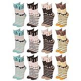 Lavazio® 12   24   36   48 Paar Topmodische Socken für Damen undTeenager verschiedene Farb-Kombis, Größe:35-38, Farbe:mehrfarbig - 12 Paar - Nr. 1022